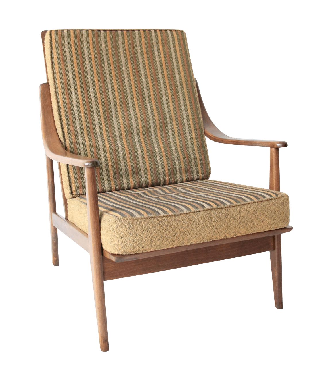 High Back Lounge Chair Vintage Mid Century Striped High Back Lounge Chair Chairish