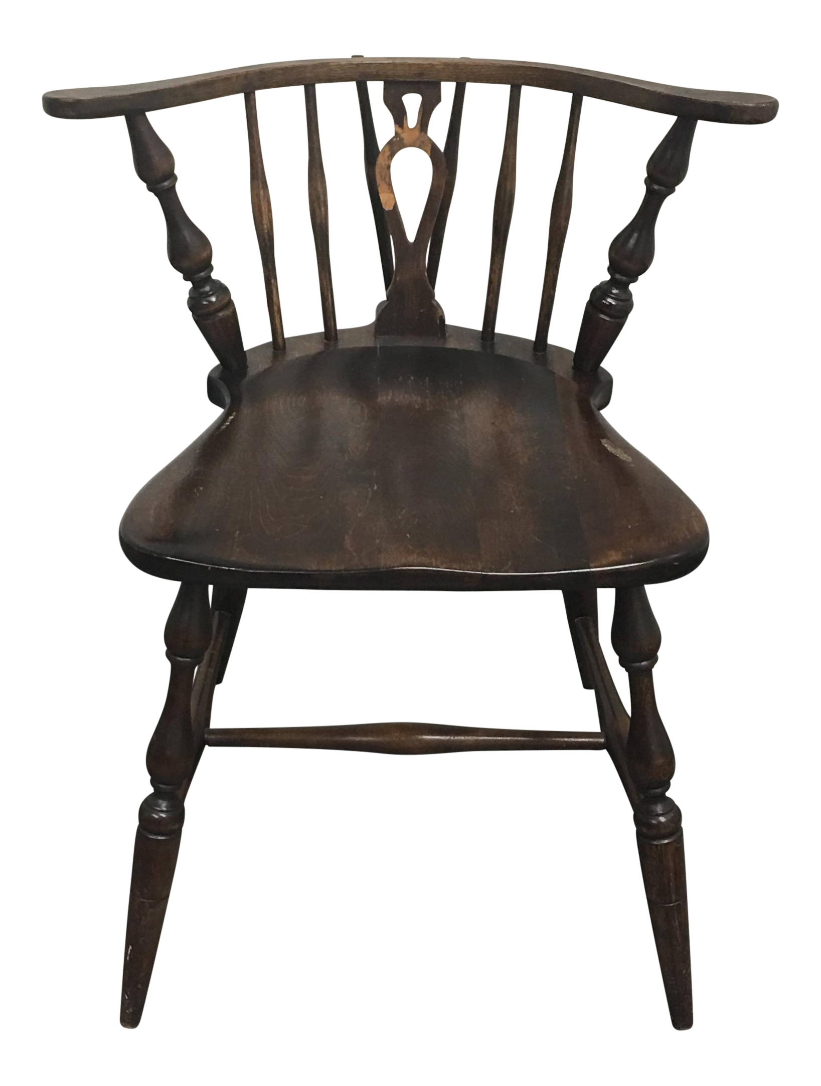Windsor Style Chairs Vintage Windsor Style Side Chair Chairish