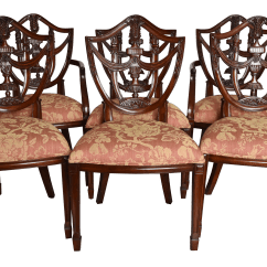 Maitland Smith Dining Chairs Dinosaur Bean Bag Chair Upholstered Set Of 6 Chairish