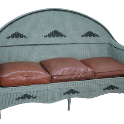 1930 Cane Back Sofa Furniture Bed Design Antique 1930s Painted Wicker Chairish