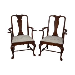 Queen Anne Side Chairs Cherry Chair Umbrella Clamp Henkel Harris Solid Spnea Armchairs A