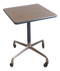 Eames Era Herman Miller Rolling Side Table | Chairish