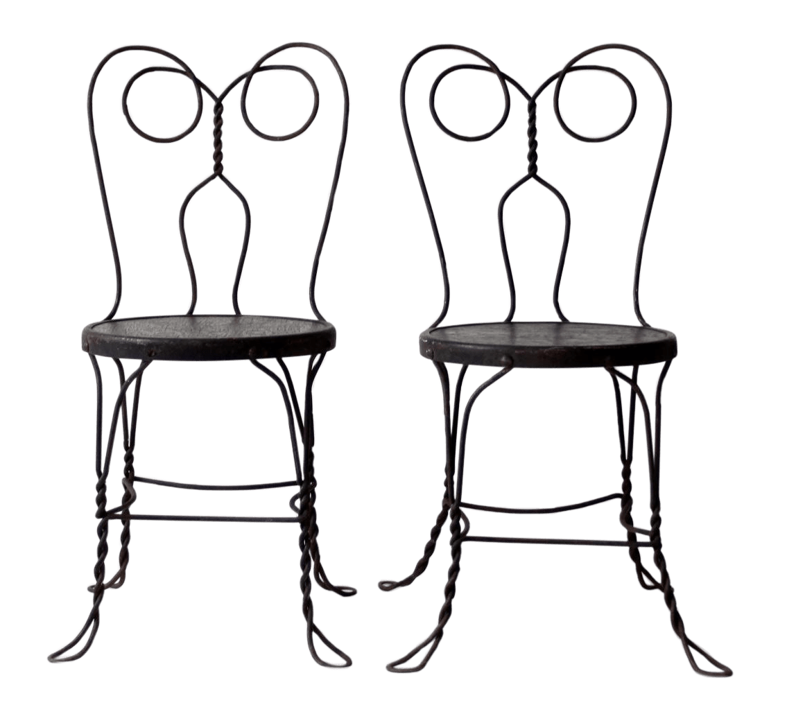 ice cream parlor chairs kitchen chair pads a pair chairish