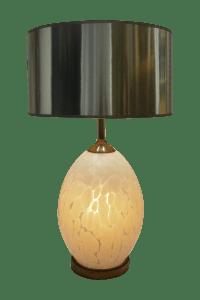 Mid-Century Modern Italian Glass White Murano Table Lamp ...