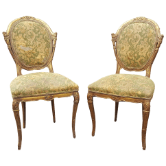 Antique Accent Chair White Slipcovered And A Half French Country Chairs Pair Chairish