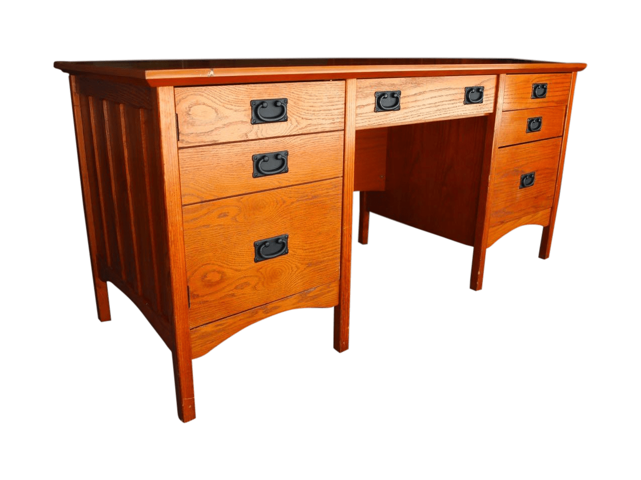 Contemporary Craftsman Mission Style Desk  Chairish