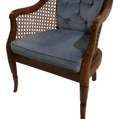 French Barrel Chair Cover Rentals Denver Cane And Velvet Back Club Chairish