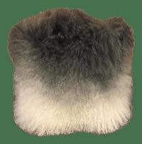 Ombr Mongolian Fur Pillow | Chairish