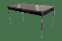 Mid-Century Modern Industrial Minimalist Table | Chairish