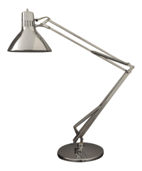Vintage Luxo Articulated Chrome Desk Lamp