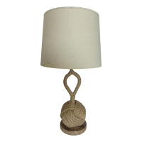 Nautical Rope Knot Table Lamp | Chairish