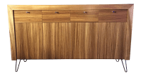 Mahogany Mid-Century Modern Style Sideboard Credenza With ...