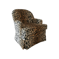 Tufted Leopard Print Velvet Club Chair