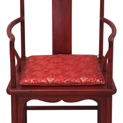 Red High Back Chair Karlstad Cover Uk Antique Oversized Ming Chairish