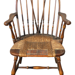 Unfinished Windsor Chairs Leather Oversized Chair B Ands Co Solid Wood Rush Seat Rustic Arm