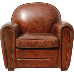 Genuine Leather Chair Swing Mudah Pasargad Paris Club Chairish