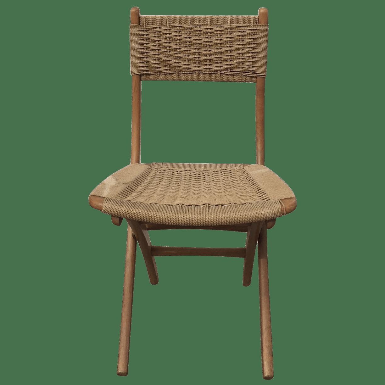 modern folding chair stressless sizes mid century rope chairish
