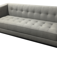 Custom Sofa Design Online Coffee Sack Designer Tufted In Gray Fabric Chairish