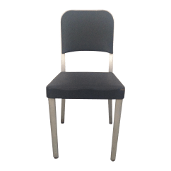 Brushed Aluminum Chairs Office Chair Vs Task Emeco Mid Century Side Chairish