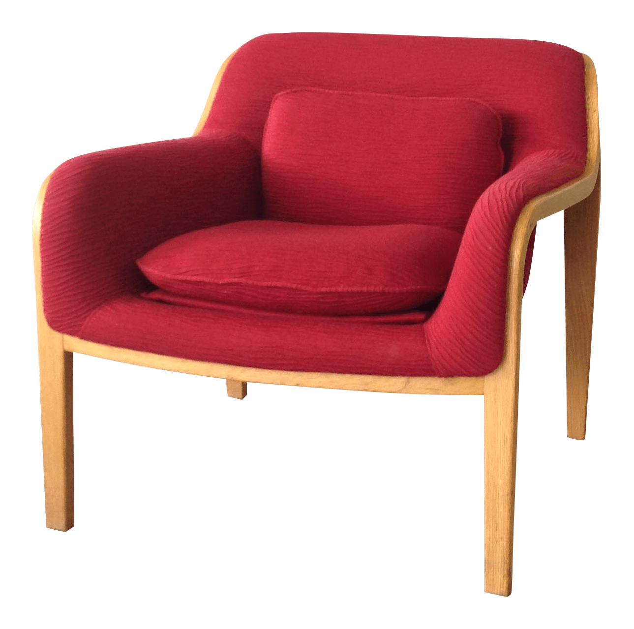 red lounge chair poang knoll chairish