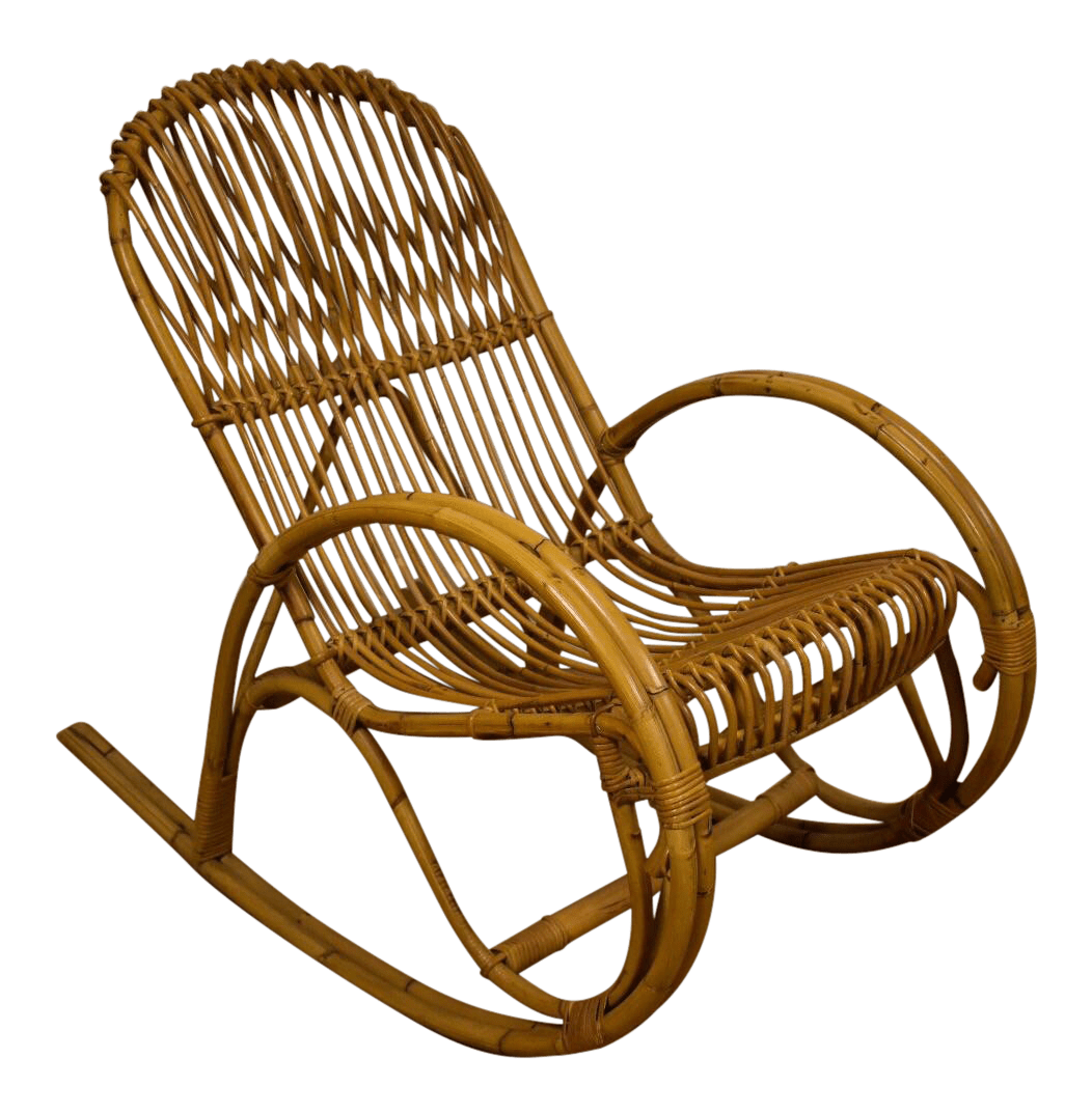 design within reach rocking chair dining seat covers diy frank albini style bamboo chairish