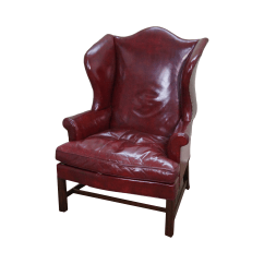 Colonial Wingback Sofas Eq3 Reverie Sofa Leather Kittinger Williamsburg Wing Chair Chairish