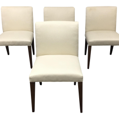 White Dining Chairs Set Of 4 Chair Covers For Dog Hair Room And Board Marie Chairish