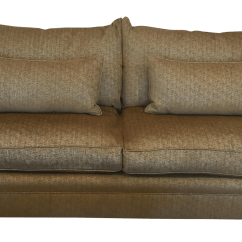 Down Feather Sofa Leather Room Ideas Gold And Chenille Chairish