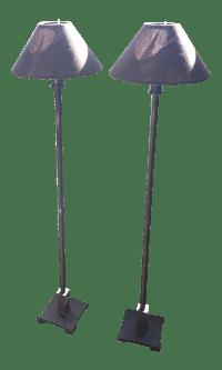 Restoration Hardware Petite Candlestick Buffet Lamps - A ...