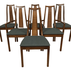 Mid Century Modern Cane Barrel Chairs Water Ski Chair Plans Simple Minimalist Home Ideas Back Dining Set Of 6 Chairish