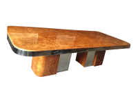Mid Century Burl Wood Milo Baughman Table