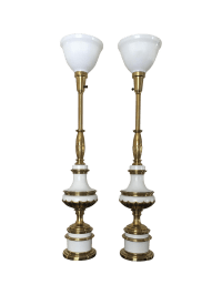 Hollywood Regency Stiffel Torchiere Lamps