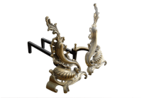 Antique Fireplace Andirons Chenets | Chairish