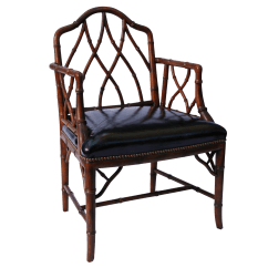 Chippendale Rocking Chair Graco High Blossom Vintage Faux Bamboo Chinese Arm Chairish