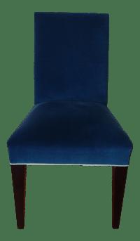 Mitchell Gold Royal Blue Velvet Desk Chair | Chairish