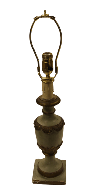 Vintage Italian Plaster Urn Table Lamp | Chairish
