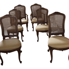 French Cane Back Dining Chairs Bistro Chair Cushions Henredon Provincial 6