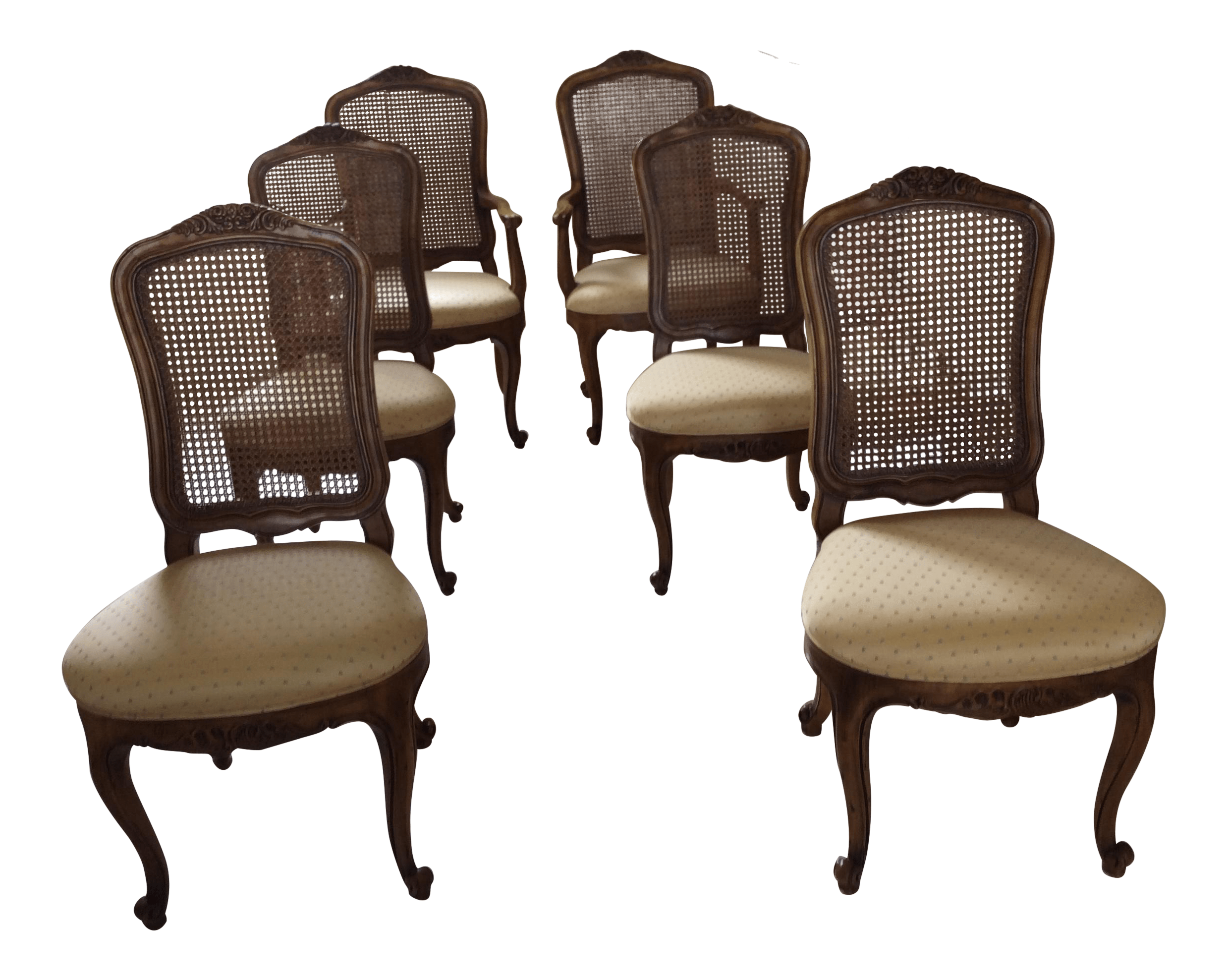 French Dining Chairs Henredon French Provincial Cane Back Dining Chairs 6