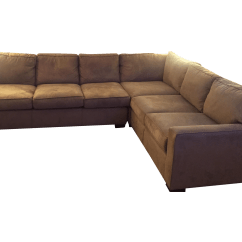 Mitchell Gold Sectional Sofa Turner Roll Arm Leather 43 Bob Williams Chairish