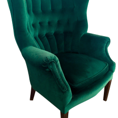 Where To Buy Outdoor Rocking Chairs Chair Design Icons Vintage Emerald Green Armchair | Chairish
