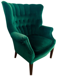 Vintage Emerald Green Armchair