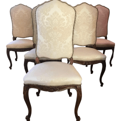 Damask Accent Chair Coleman Cooler Quad French Traditional Upholstered Dining Chairs Set