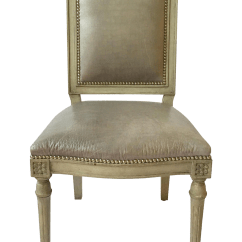 Studded Dining Room Chairs Costco Lounge Neoclassical Leather S 8 Chairish