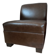 Pottery Barn Trevor Armless Leather Chair