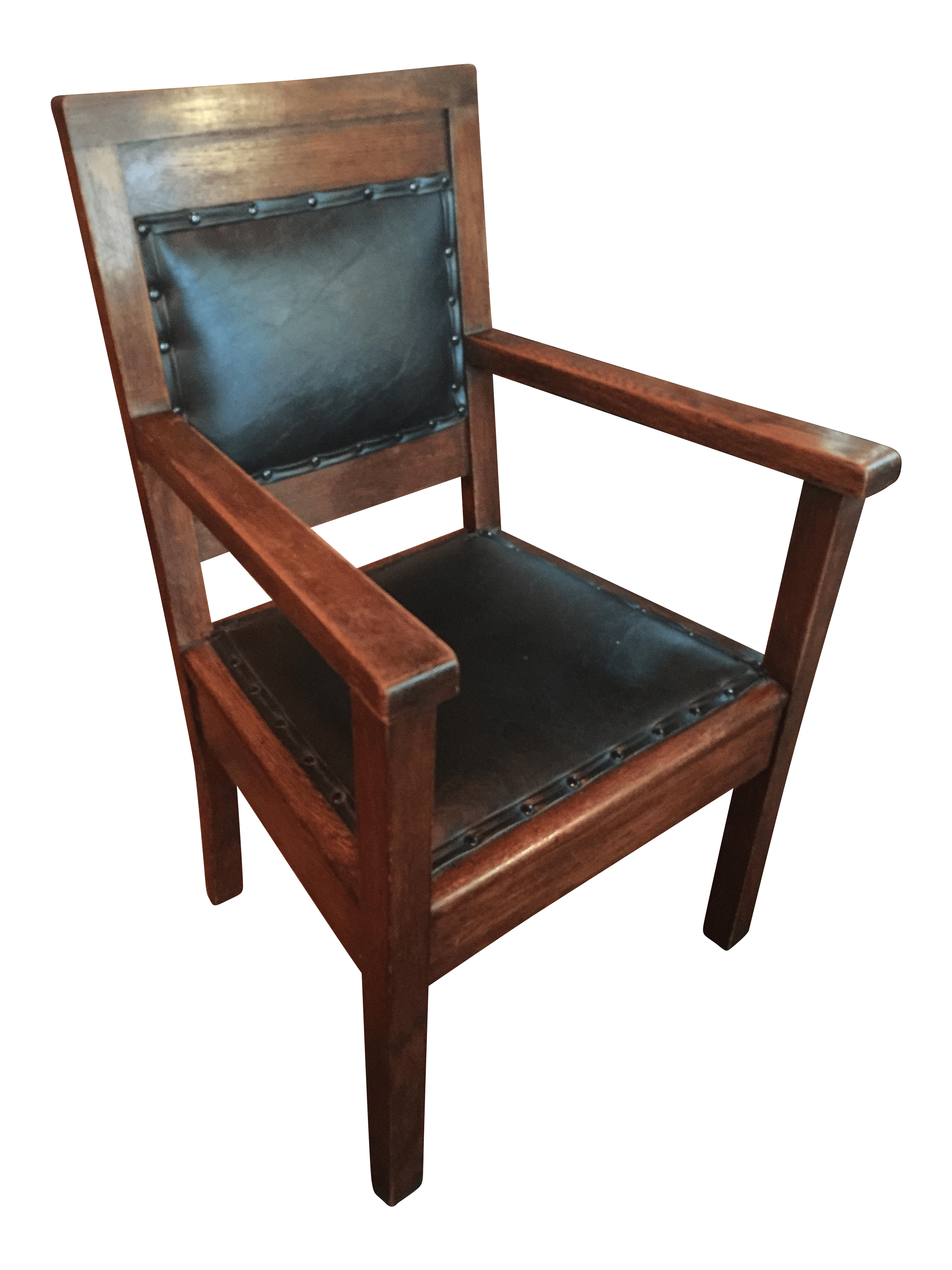 rocking chair runners replacement stand alone swing antique mission leather on oak chairish