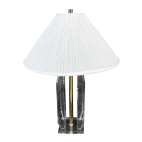 Vintage Lucite & Brass Table Lamp | Chairish