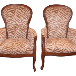 Animal Print Accent Chair Convertible Bed With Arms Upholstered Zebra Chairs A Chairish