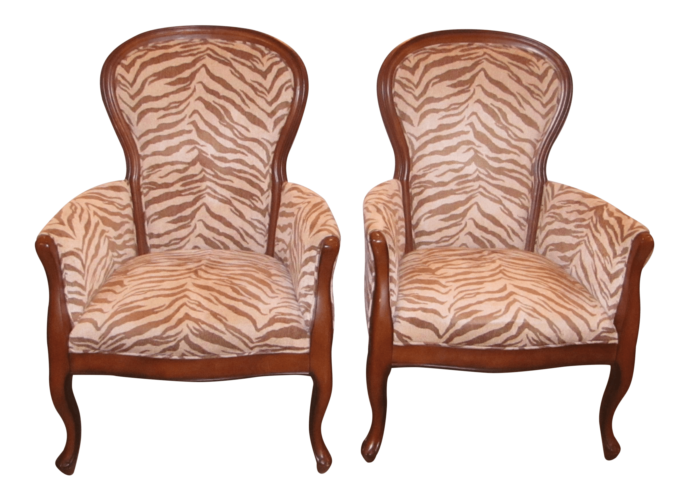 Animal Print Dining Chairs Upholstered Zebra Print Accent Chairs A Chair Chairish