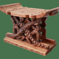 Stool Chair Ghana Massaging Recliner Carved Alligator Motif African Chairish