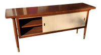 Mid-Century Modern Credenza Buffet Console Floating Top ...